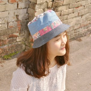 Hat - pink flower with cowboy subsection (splicing, Boximiya, Japanese, outdoors)