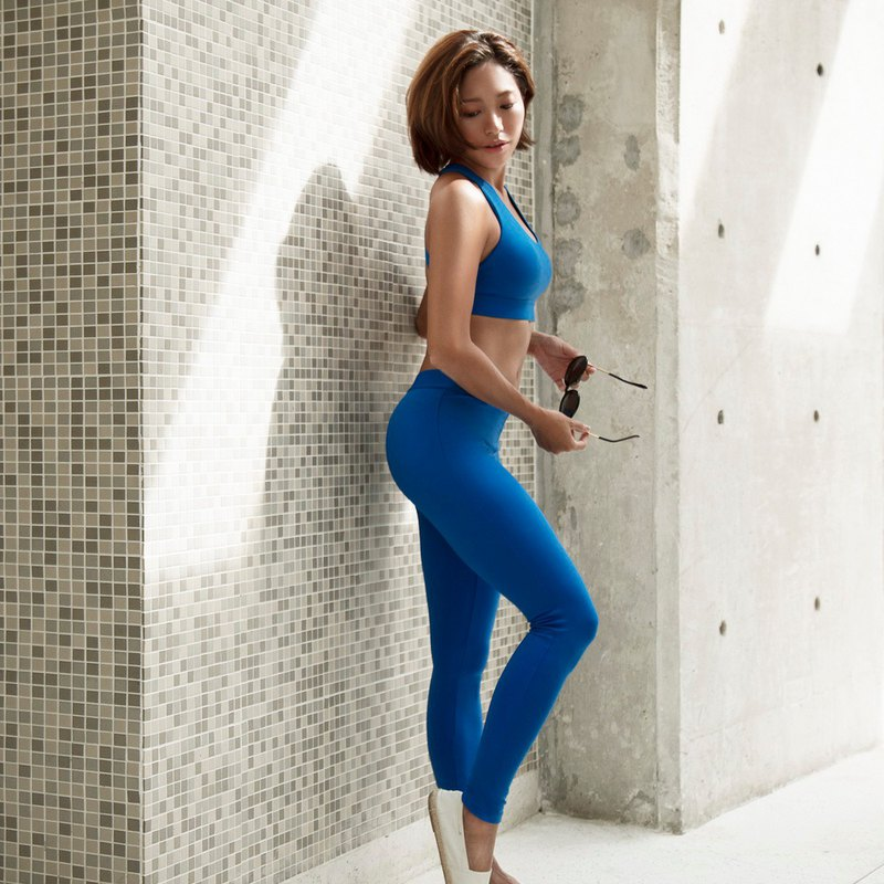 [SNT] Alice Sports tight trousers / Blue-Alexis / cerulean