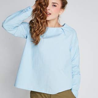 (FIT1701TP04BL) Water Blue Chinese Wind Top