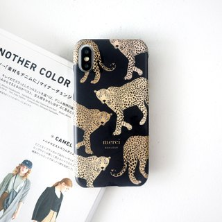 European style black panther mobile phone case