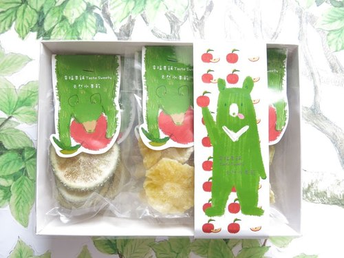 Happiness Fruit Shop - Apple Bear Fruit Dry Gift Box 9 In