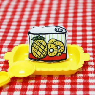Let the clothes eat good food - canned pineapple pin