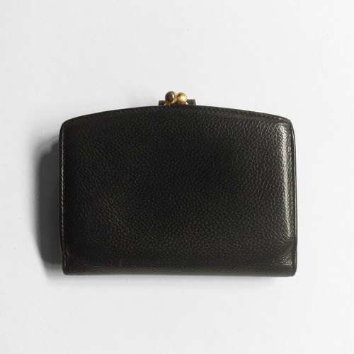 A ROOM MODEL - VINTAGE, COACH mouth black gold short clip / BD-0680