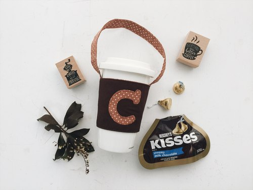 hairmo exclusive letter mobile beverage bags - colored (hand cup / coffee cup / accompanying cup)
