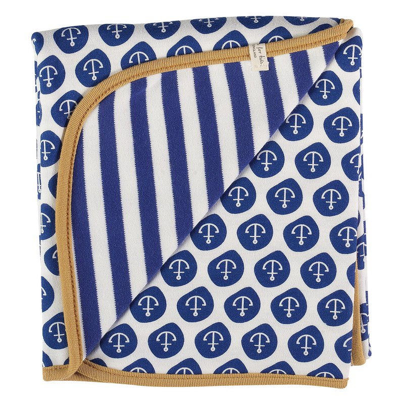 100% Organic Cotton Sailor Baby Towel Made in England