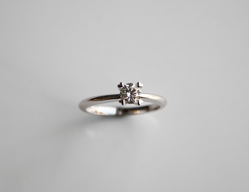 Frankness | 18K White Gold Elegant Simple Diamond Ring | Rose Gold / Diamond Ring / Couple / Custom / Customized