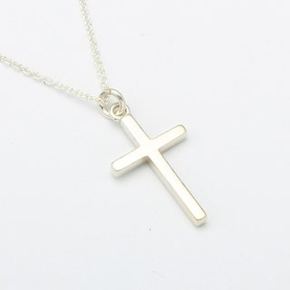 Simple Cross (medium) s925 sterling silver necklace Valentine's Day gift