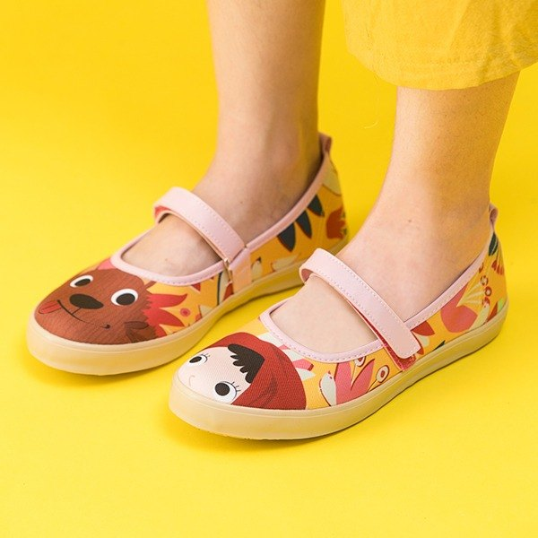 Red Riding Hood Fairy Shoes - Yellow Women's Shoes (Tulips)