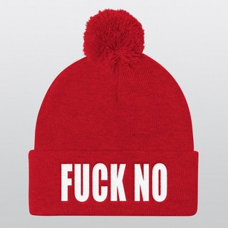 Pom Pom Hat, Beanie, Beanie Hat, Pom Pom Beanie, Instagram Prop, Gift Ideas, Christmas Gifts, Winter Hat, Photo Booth, Cool Hat, Fuck No
