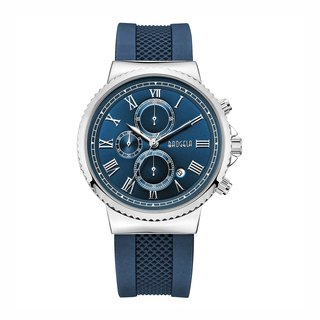 EUROPE SPECIAL EDITION Collection - PARIS Blue Silver Gold Dial / Blue Silicone Watch