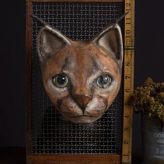 Wall decoration - carved cat