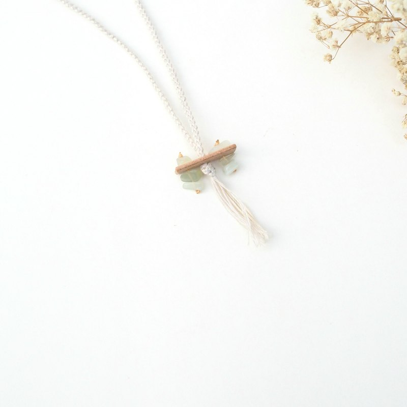 Natural Stone Necklace no. 12 |  Minimalist Handmade Statement Necklace