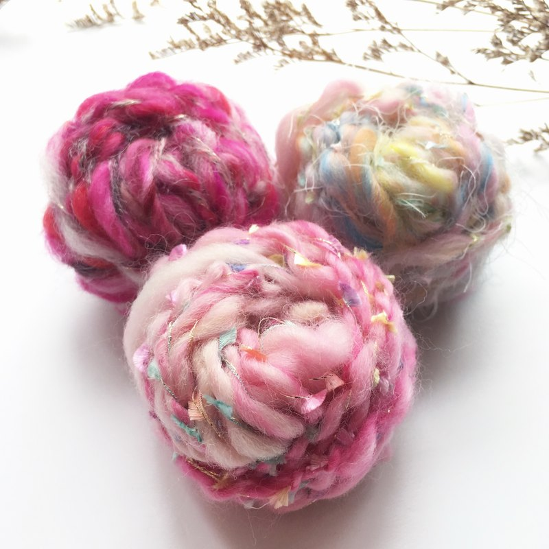 Sangberry powder DIY handcuffs line ball bag / hand spinning line / wool / DIY material / hand made material package