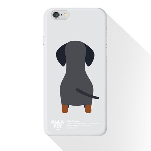 HULA PET MOBILE CASE BACK VERSION  DACHSHUND (8plus)