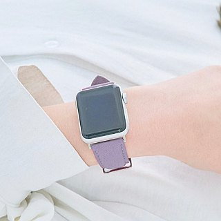 Multicolor Real Leather Macaron Dream Lavender Purple Apple Watch Apple Watch Strap