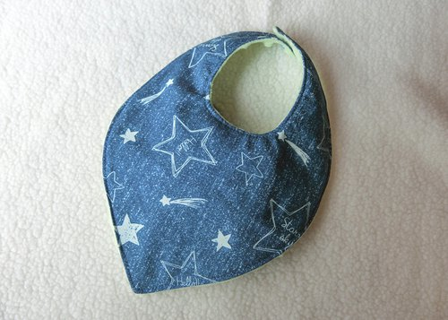 Hand painted starry sky - leaf bib
