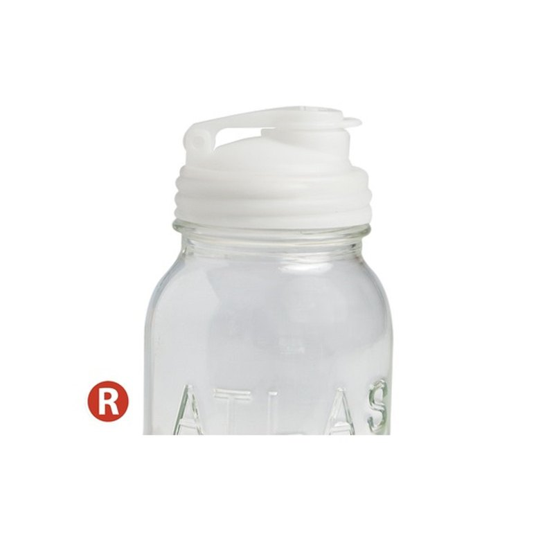 reCAP POUR - Mason jar narrow mouth white beverage lid