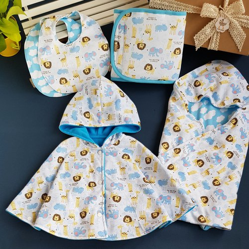 Five-piece group moon ceremony lion giraffe hippo cartoon knit cotton most practical items exclusive handmade