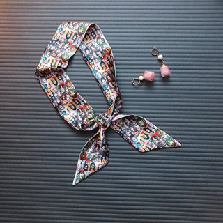 Silk Hairband/Scarf Classic Original Design Pattern Hairband/Scarf/Gift/Original Design
