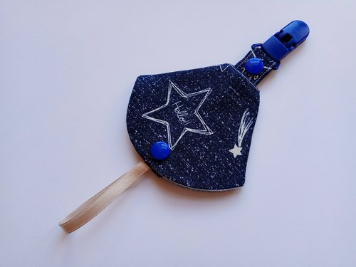 Blue Star Two-in-one pacifier clip < pacifier dust bag + nipple clip> dual function