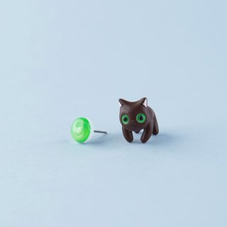 Havana Cat - Polymer Clay Earrings, Handmade&Handpaited Catlover Gift
