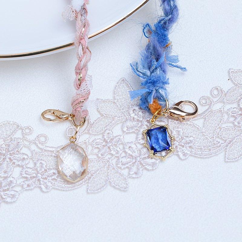 口罩掛繩 櫻花樹下的浪漫 混紗線 手作編織 口罩鍊 可當眼鏡掛繩
