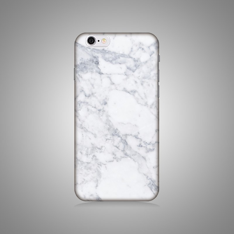 Empty shell series - new white marble original mobile phone case / protective cover (hard shell)