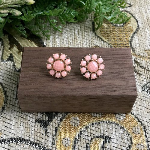 Mini Pink Flower Antique Earrings BJA058
