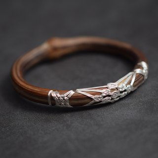 Guardian old style rattan bracelet from time to time original 995 sterling silver hand-knitted line natural wild medicine rattan bracelet men and women homemade