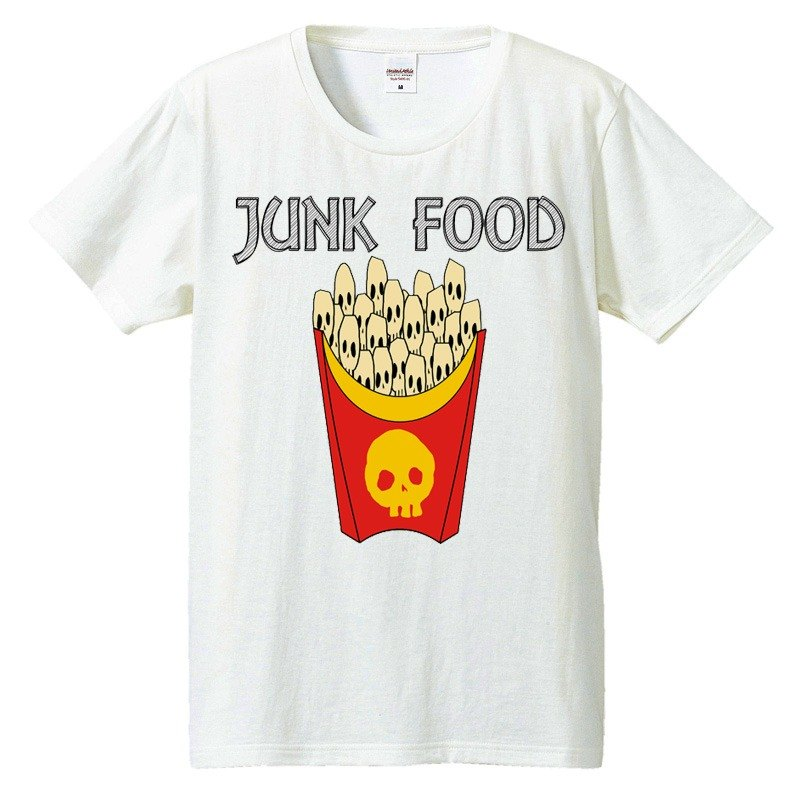 [Tシャツ] skull French fries / Collar
