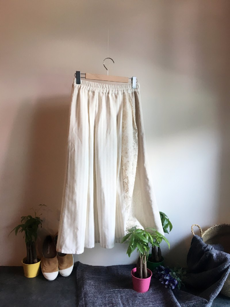 Long linen summer skirt