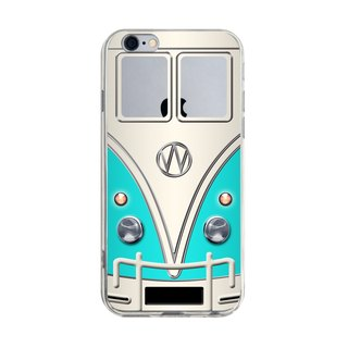 Custom color blue minibus nostalgia transparent Samsung S5 S6 S7 note4 note5 iPhone 5 5s 6 6s 6 plus 7 7 plus ASUS HTC m9 Sony LG g4 g5 v10 phone shell mobile phone sets phone shell phonecase