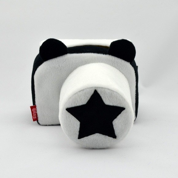 Camera bag personalized custom machine capacity can be embroidered name black and white bear cartoon 011