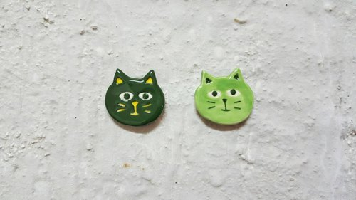 Green ceramic pin