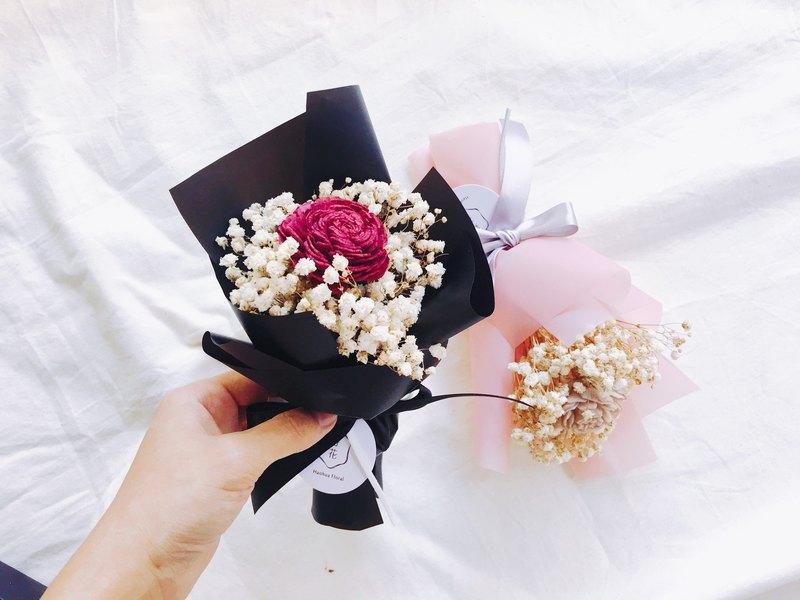 Good flower] Fragrance dry red rose gypsophila bouquet Valentine\'s ...