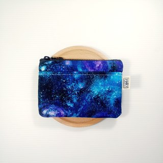 [Starry Sky] Coin Purse Clutch Bag with Zipper Bag Christmas Exchange Gift