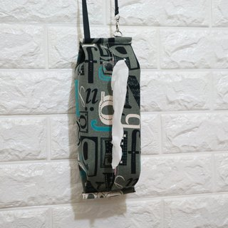 Movable hook hanging storage bag sanitary carton face paper box camper with ~~ English letters