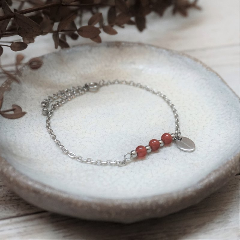 << modomodo birth stone bracelet >> July birthstone - Red Agate Redagate