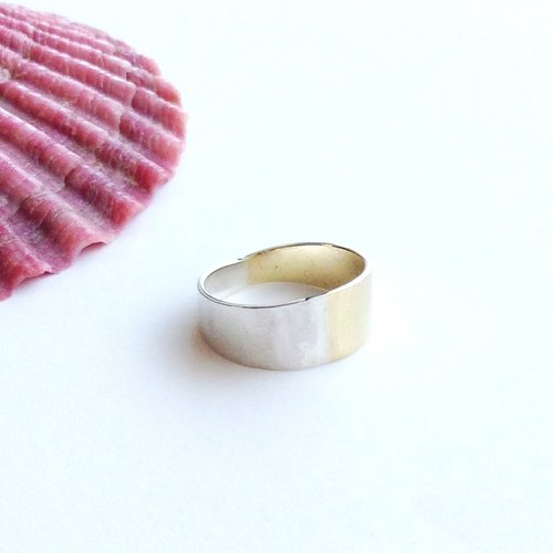 [Order production] ring / Bi-color pinky ring <Unisex> ※ 1-13 No.