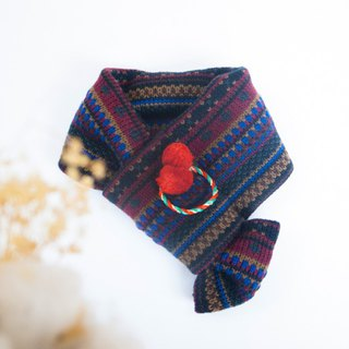 [Warm Christmas] For Dear hair Christmas children's knitted scarves