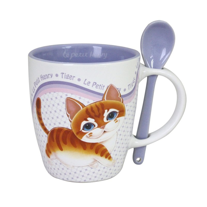 Q version of the mug spoon set 11oz-Tiger tiger / QMU1-CA001