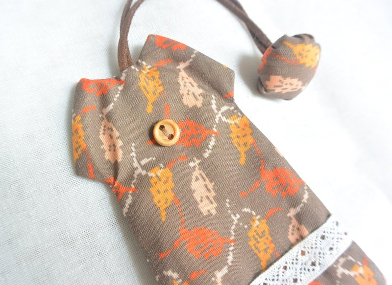 Hand-feel dress key case-colorful leaves