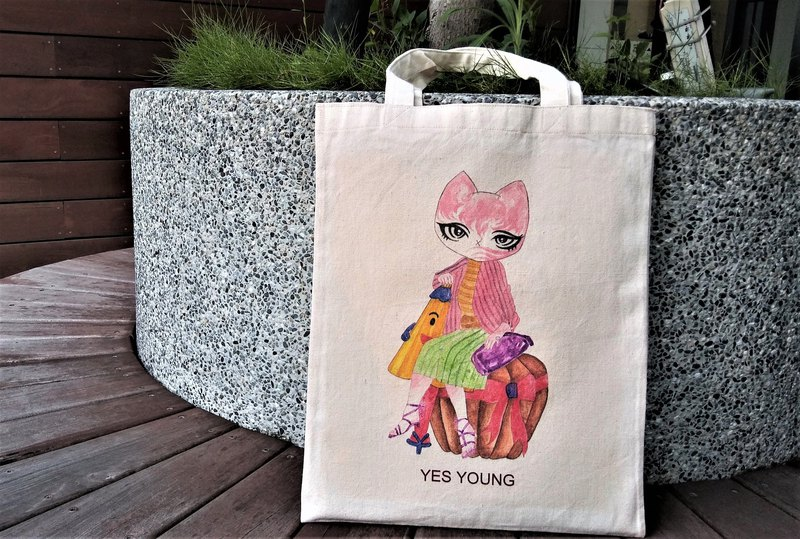[Pumpkin Mitty Cat] Mitty Cat Canvas Bag / Canvas Bag / Cloth Bag