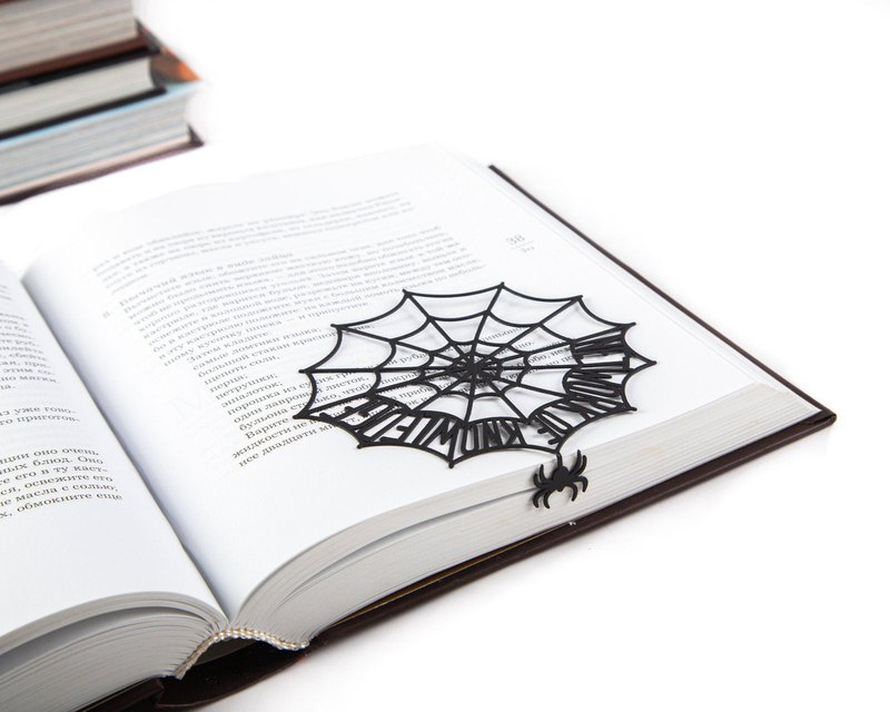 Cool metal book bookmark // Network of knowledge // Free shipping worldwide //