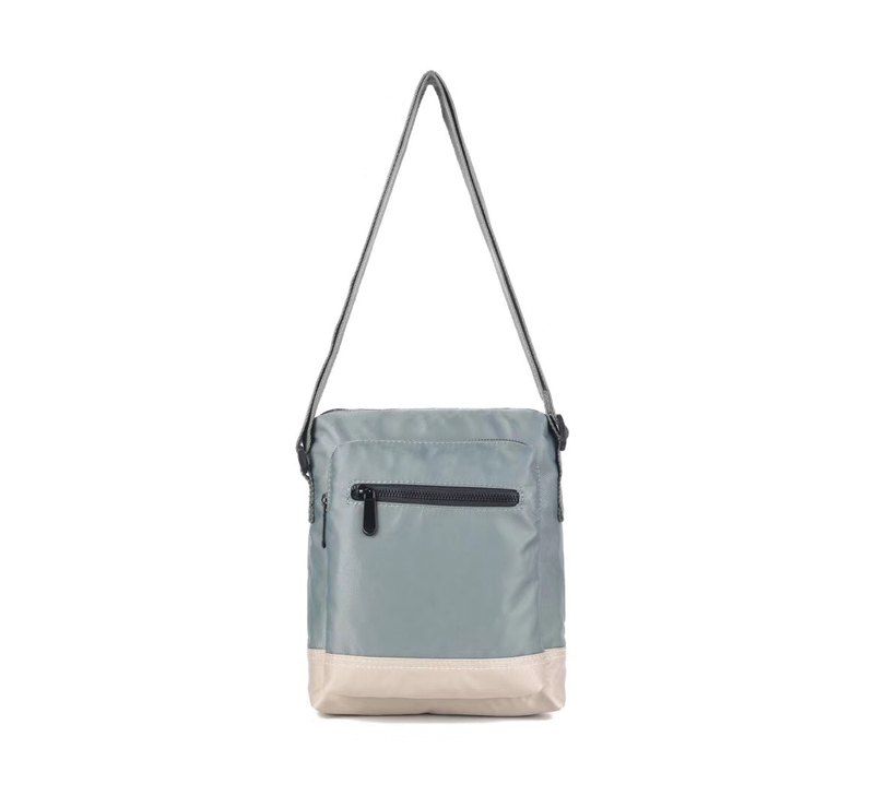 Simple Unisex Waterproof Crossbody Bag / Shoulder Bag / Shoulder Bag Light Gray-7037