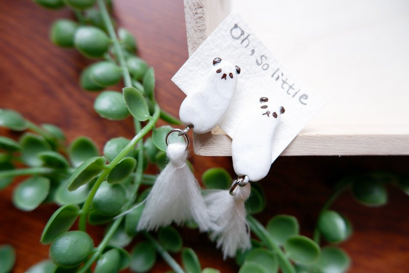 [Animal tassels] cute panda earrings customized
