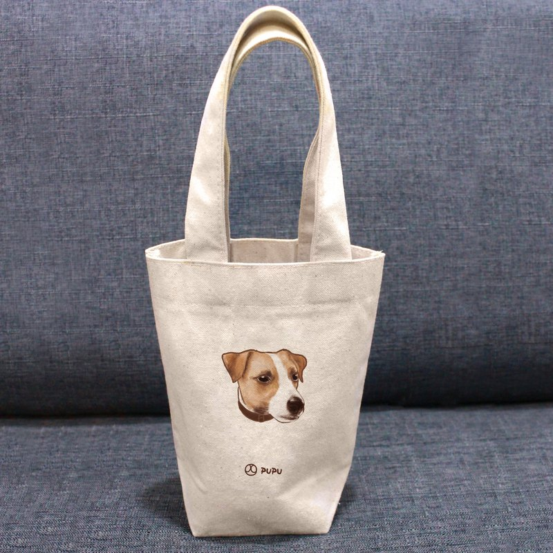 Jack Russell Terrier-Big Head-Taiwanese Cotton Linen-Cultural & Creative-Environmental Protection-Drink Bag-Fly Planet