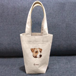 Jack Russell Terrier - Big Head - Taiwan Cotton Fabric - Wenchuang - Environmental Protection - Drink Bag - Fly Planet