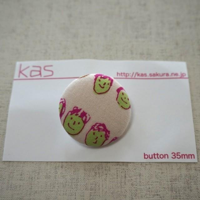 "Hand printed original covered button""friends""(large)"