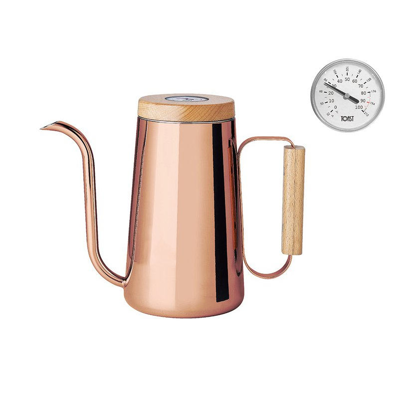 HAND / Coffee Hand Cup with Thermometer 800ml (Red Copper)